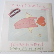 Discos de vinilo: EURYTHMICS - THERE MUST BE AN ANGEL (SOLO DE ARMONICA DE STEVIE WONDER) 1985 SPAIN MAXI SINGLE. Lote 51316254