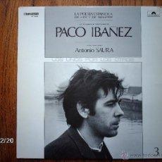 Disques de vinyle: PACO IBAÑEZ - ANTONIO SAURA - LA POESIA ESPAÑOLA DE HOY Y DE SIEMPRE - 3 - . Lote 98412515