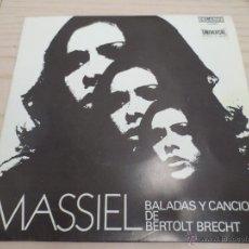 Discos de vinil: MASSIEL BALADAS Y CANCIONES DE BERTOLT BRECHT. Lote 51324502