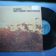 Discos de vinilo: RICCARDO COCICIANTE L'ALBA LP ITALIA PDELUXE. Lote 51326966