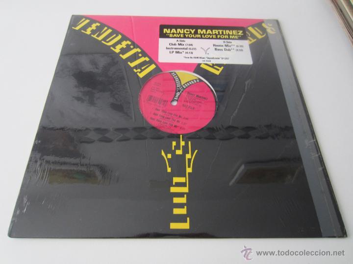 NANCY MARTINEZ - SAVE YOUR LOVE FOR ME (5 VERSIONES) 1989 USA MAXI SINGLE (Música - Discos de Vinilo - Maxi Singles - Disco y Dance)