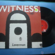 Discos de vinilo: WITNESS LOVERMAN MAXI UK 1991 PDELUXE. Lote 51327682