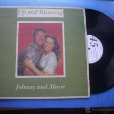 Discos de vinilo: UP AND RUNNING JOHNNY AND MARIE MAXI UK 1988 PDELUXE. Lote 51327789
