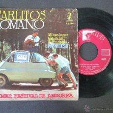 Disques de vinyle: CARLITOS ROMANO MI BUEN HUMOR / TU DI CHI SEI ..+2 1960 EP ZAFIRO FESTIVAL ANDORRA. Lote 51331362