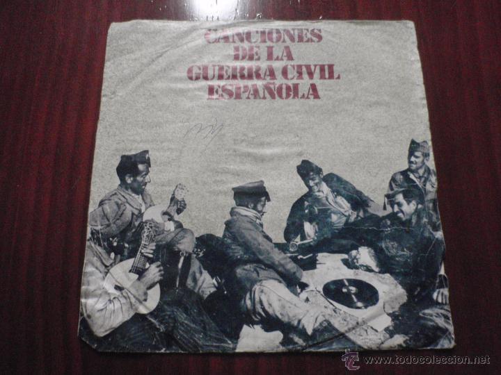 CANCIONES DE LA GUERRA CIVIL ESPAÑOLA. SINGLE DIAL DISCOS 1978 (Música - Discos - Singles Vinilo - Otros estilos)