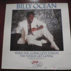 Discos de vinilo: BILLY OCEAN - WHEN THE GOING GETS TOUGH. MAXI-SINGLE JIVE 1986. Lote 51337307