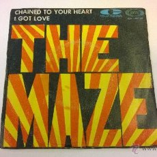 Discos de vinilo: THE MAZE.CHAINED TO YOUR HEART.SINGLE.ESPAÑA 1968.SONOPLAY.. Lote 51342444