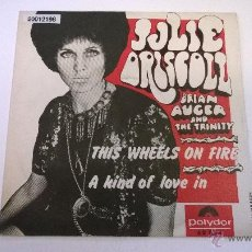 Discos de vinilo: JULIE DRISCOLL,BRIAN AUGER AND THE TRINITY.THIS WHEELS ON FIRE.SINGLE.ESPAÑA 1968.POLYDOR. . Lote 51342947