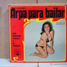 Discos de vinilo: JULIO ATAHUALPA POALASIN Y SU CONJUNTO - ARPA PARA BAILAR - DIRESA DL-1000 - 1973 - PORTADA EROTICA. Lote 51347022