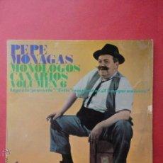 Discos de vinilo: PEPE MONAGAS. MONÓLOGOS CANARIOS. VOL. 6. Lote 51355522
