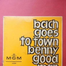 Disques de vinyle: BACH GOES TO TOWN BENNY GOOD MAN. MGM. Lote 51356130