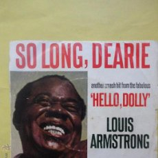 Disques de vinyle: ARMSTRONG. HELLO DOLLY. Lote 51356266