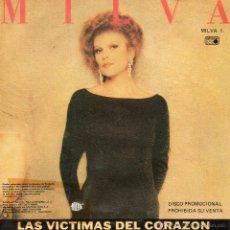Discos de vinilo: MILVA, SG, UNA HISTORIA INVENTADA + 1, AÑO 1990 PROMO. Lote 51357583