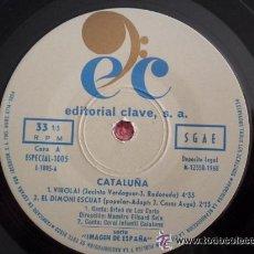 Discos de vinilo: MAESTRO ELISARD SALA– CATALUÑA - VIROLAI + 3 TEMAS - EP EDITORIAL CLAVE 1968. Lote 51360914