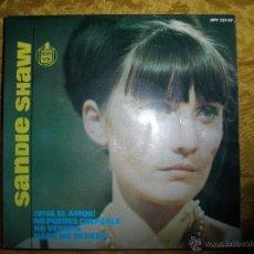 Discos de vinilo: SANDIE SHAW. ¡ VIVA EL AMOR ¡ + 3. EP. HISPAVOX 1965. Lote 152181256