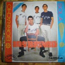 Discos de vinilo: LOS BRINCOS. BORRACHO / SOLA. ZAFIRO / NOVOLA 1965. IMPECABLE. Lote 51362917