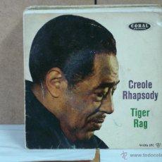 Discos de vinilo: DUKE ELLINGTON - TIGER RAG / CREOLE RHAPSODY - CORAL-HISPAVOX 94 006 EPC M45 - 1959 - MUY DIFICIL. Lote 51365129