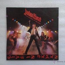 Discos de vinilo: JUDAS PRIEST - UNLEASHED IN THE EAST ( LIVE IN JAPAN ) LP 1983 EDICION ESPAÑOLA. Lote 51369528