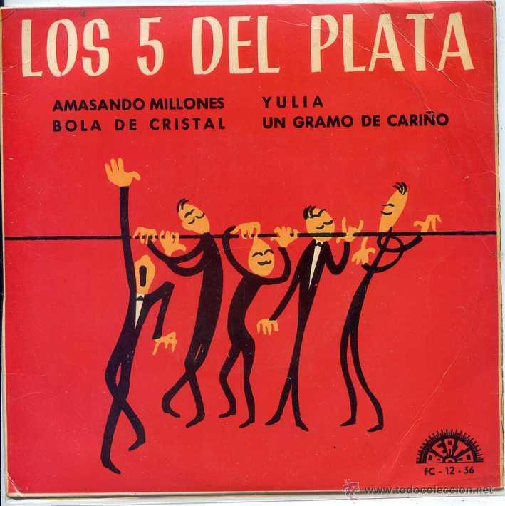 LOS 5 DEL PLATA / AMASANDO MILLONES / BOLA DE CRISTAL + 2 (EP 1967) (Música - Discos de Vinilo - EPs - Grupos Españoles 50 y 60)