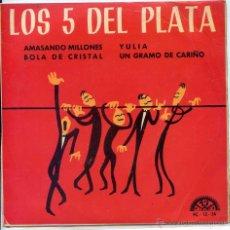 Discos de vinilo: LOS 5 DEL PLATA / AMASANDO MILLONES / BOLA DE CRISTAL + 2 (EP 1967). Lote 51375191