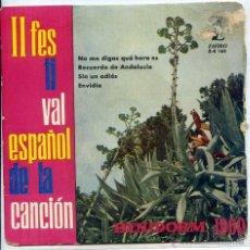 Disques de vinyle: II FESTIVAL ESPAÑOL DE LA CANCION (BENIDORM 1960) / LOLITA GARRIDO - LOS IRAÑU'KO (EP 1960). Lote 51375232