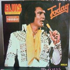 Discos de vinilo: ELVIS PRESLEY TODAY - (RCA APL1-1039) ESPAÑA, 1975. [INCLUYE EL ÉXITO T-R-O-U-B-L-E]. Lote 51377256