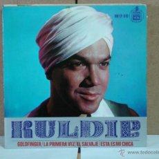 Discos de vinilo: KULDIP - GOLDFINGER / LA PRIMERA VEZ / EL SALVAJE / ESTA ES MI CHICA - HISPAVOX HH 17-319 - 1966. Lote 51377883
