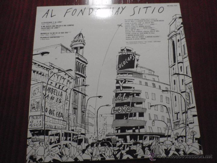 Discos de vinilo: AL FONDO HAY SITIO - A COLOCARSE Y AL LORO. Maxi-Single vinilo, Solera Discos 1986 - Foto 2 - 51385294