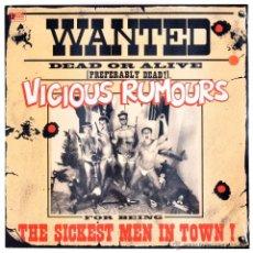 Discos de vinilo: VICIOUS RUMOURS - LP THE SICKEST MEN IN TOWN - ED.LTDA. 100 COPIAS -VINILO COLOR ROJO -PRECINTADO.. Lote 51386863
