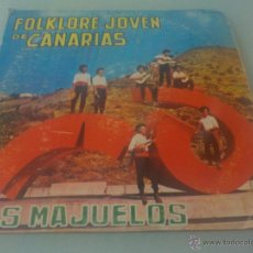 Discos de vinilo: RARO DISCO FOLKLORE CANARIO EDICIÓN VENEZUELA LOS MAJUELOS LP 1973 FONODISCO CARPETA CARTÓN. Lote 99199550