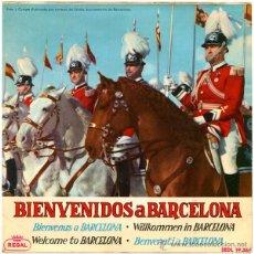 Discos de vinilo: COBLA LA BISBAL, PERET, A. LABRADOR+A. DUEÑAS... - BIENVENIDOS A BARCELONA - EP SPAIN 1964 - REGAL. Lote 51393251