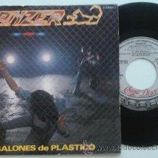 Discos de vinilo: PANZER -SG- GALONES DE PLÁSTICO + 1 PROMO CHAPA 80'S. Lote 51390279