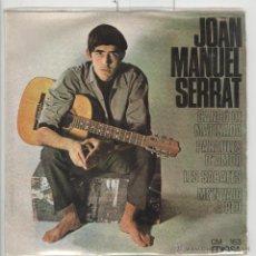 Discos de vinilo: SERRAT. CANÇÓ DE MATINADA. EDIGSA 1966. BON ESTAT. EP. Lote 51398358