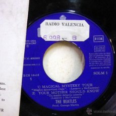 Discos de vinilo: DISCO DE VINILO, SINGLE DOBLE, THE BEATLES, RADIO VALENCIA, MAGICAL MYSTERY TOUR, SOLM 1 -2, ODEON. Lote 51400679