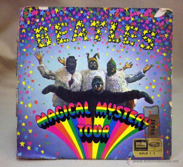 Discos de vinilo: DISCO DE VINILO, SINGLE DOBLE, THE BEATLES, RADIO VALENCIA, MAGICAL MYSTERY TOUR, SOLM 1 -2, ODEON - Foto 2 - 51400679