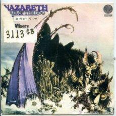 Discos de vinilo: NAZARETH / HAIR OF THE DOG / MISS MISERY (SINGLE 1975). Lote 51404136