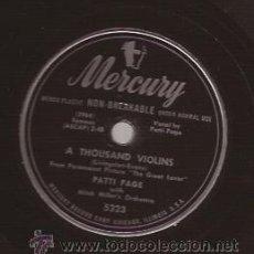 Discos de vinilo: DISCO 78 RPM PIZARRA-PATTI PAGE MERCURY 5323 USA 195???. Lote 51410378