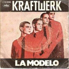 Discos de vinilo: SG KRAFTWERK : LA MODELO + METROPOLIS . Lote 51411643