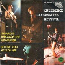 Discos de vinilo: SG CREEDENCE CLEARWATER REVIVAL : GRAPEVINE. Lote 51411687