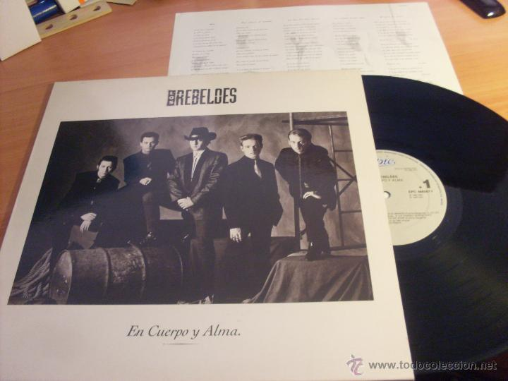 LOS REBELDES (EN CUERPO Y ALMA ) LP (NM/NM) (VIN20) (Música - Discos - LP Vinilo - Grupos Españoles de los 90 a la actualidad)
