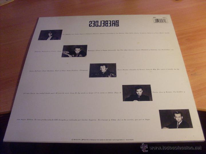 Discos de vinilo: LOS REBELDES (EN CUERPO Y ALMA ) LP (NM/NM) (VIN20) - Foto 3 - 51422817
