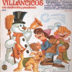 Discos de vinilo: VILLANCICOS CON ZAMBOMBA Y PANDERETA LP. Lote 51429824