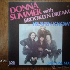 Discos de vinilo: DONNA SUMMER WITH BROOKLYN DREAMS - HEAVEN KNOWS + ONLY ONE MAN . Lote 51433859