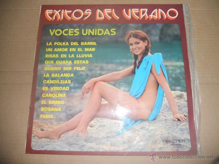 VOCES UNIDAS (LP) EXITOS DEL VERANO AÑO 1975 (Música - Discos - LP Vinilo - Grupos Españoles de los 70 y 80)