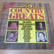Discos de vinilo: VARIOS - 20 COUNTRY GREATS (LP VINILO 1973, PICKWICK LIMITED EDITION PLE 7018). Lote 51444206