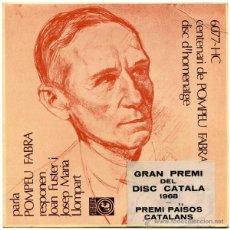 Discos de vinilo: PARLA POMPEU FABRA - JOAN FUSTER / JOSEP Mª LLOMPART - EP SPAIN 1968 - CONCENTRIC 6077 HC. Lote 241793720