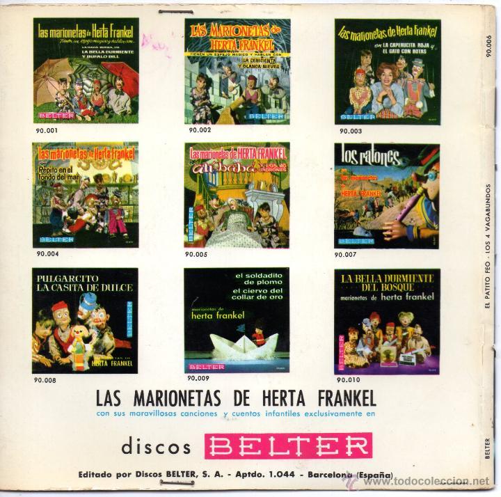 Discos de vinilo: MARIONETAS DE HERTA FRANKEL, EP, EL PATITO FEO + 1, AÑO 1963 - Foto 2 - 51452647