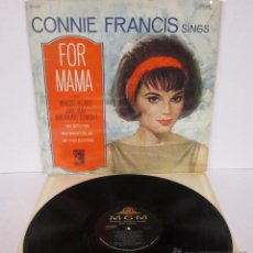 Discos de vinilo: CONNIE FRANCIS SINGS FOR MAMA - SE4294 - MGM 1965 USA. Lote 51460729