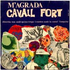 Discos de vinilo: CORAL INFANTIL L'ESQUITX – M'AGRADA CAVALL FORT - SG SPAIN 1965 - CONCENTRIC 6005-HC. Lote 51461004