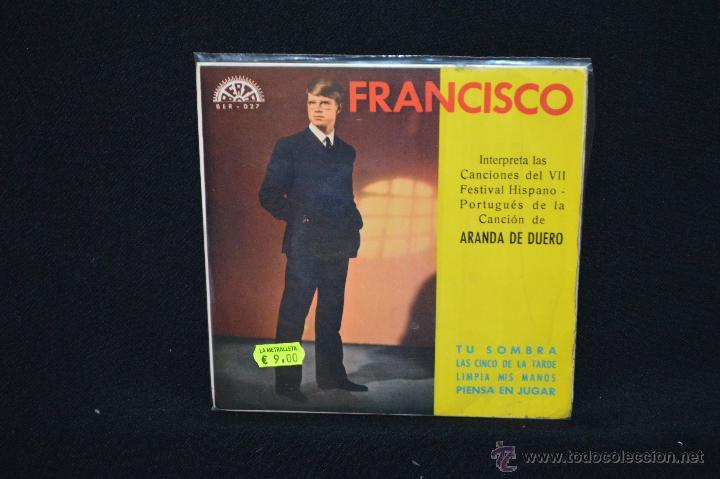 FRANCISCO - TU SOMBRA +3 - EP (Música - Discos de Vinilo - EPs - Solistas Españoles de los 50 y 60)